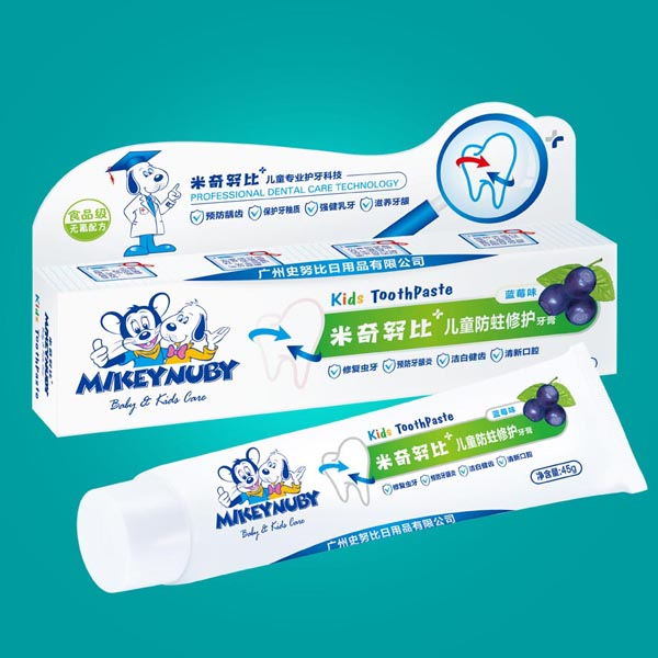 儿童 防蛀/米奇努比儿童防蛀修护牙膏(蓝莓味)