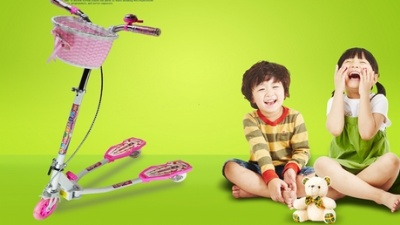 炫梦奇儿童滑板车   七彩兔儿童滑板车