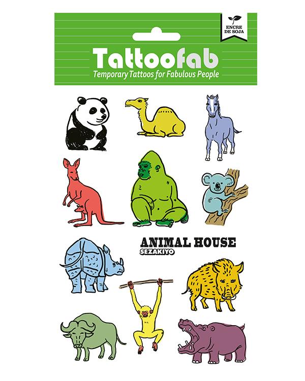 中国婴童网 孕婴童产品库 > tattoofab森林动物纹身贴纸