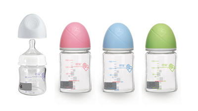 若宝玻璃显温微计量奶瓶系列