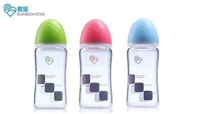 若宝玻璃显温炫彩奶瓶系列